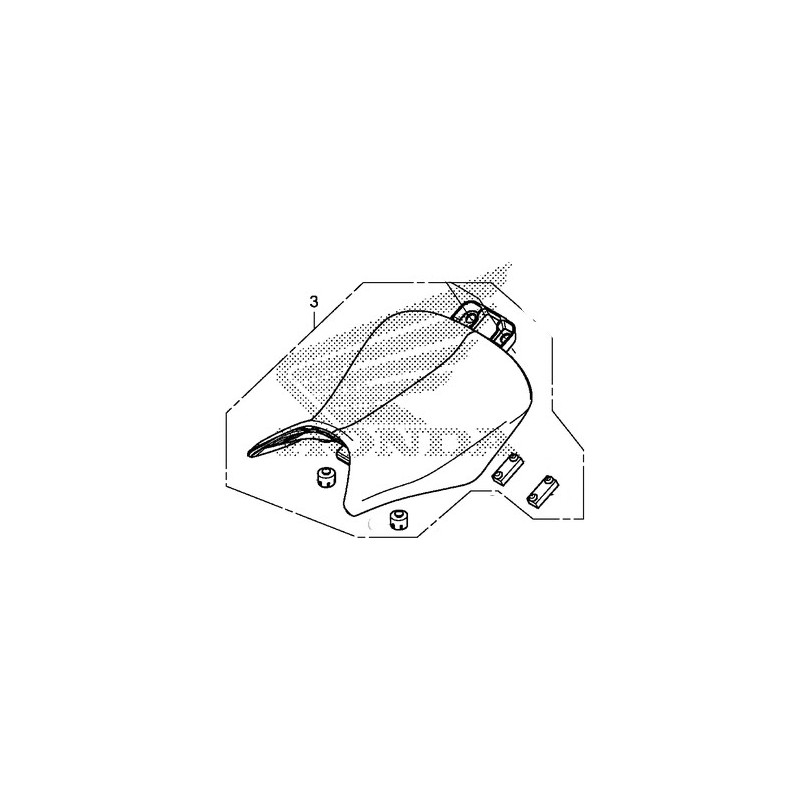 Driver Seat Single Honda CBR 500R 2014 2015 77100-MGZ-J01