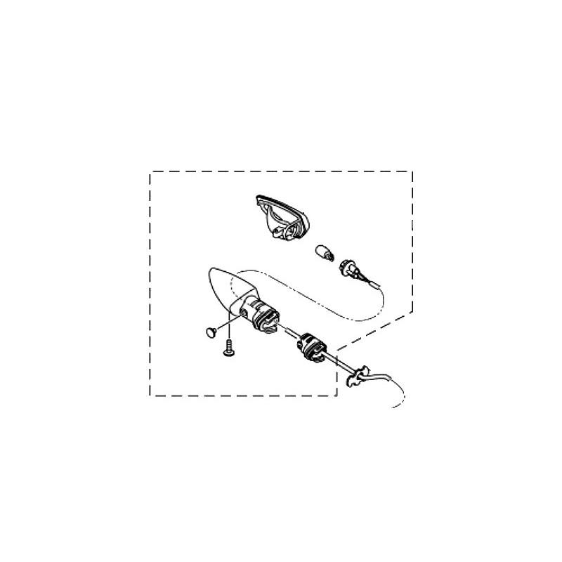 Rear Right Winker Yamaha MT-15 2019 B7D-H3340-00