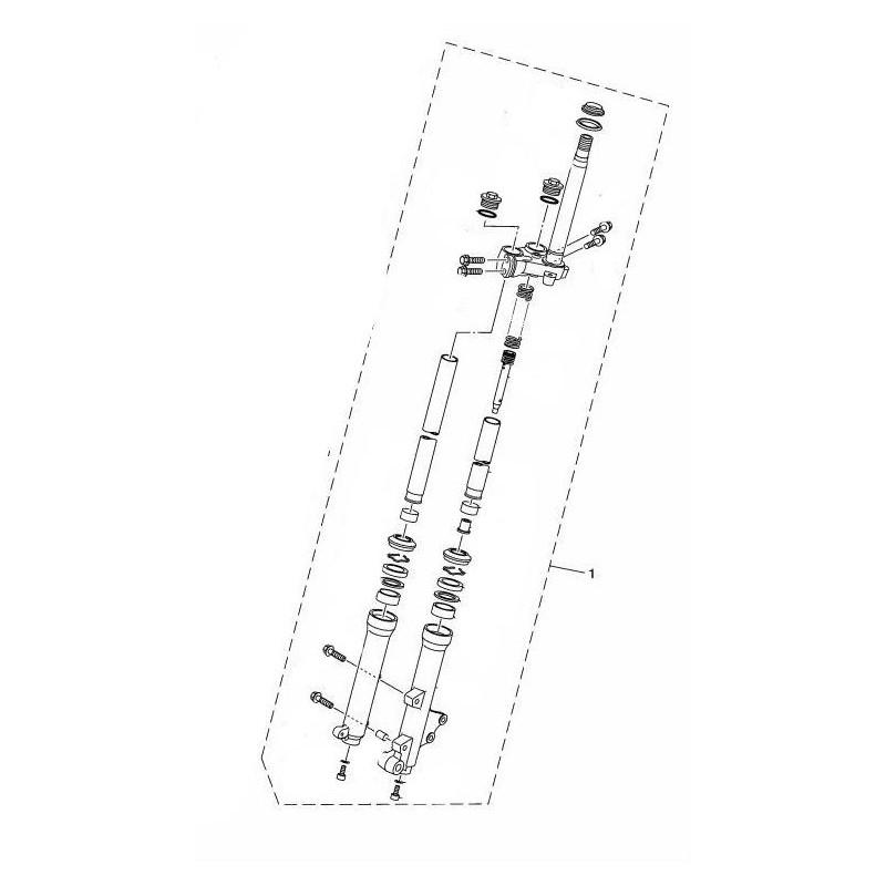Set Front Fork Left Yamaha Tricity 125 2014 2015 2CM-F3100-00
