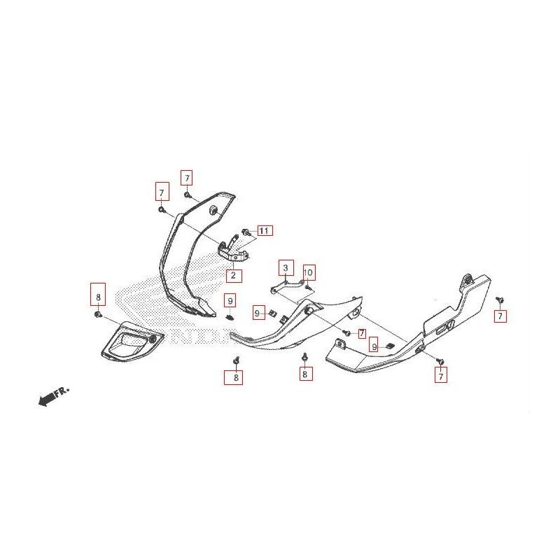 Set Fixing Covers Under Honda CB500X