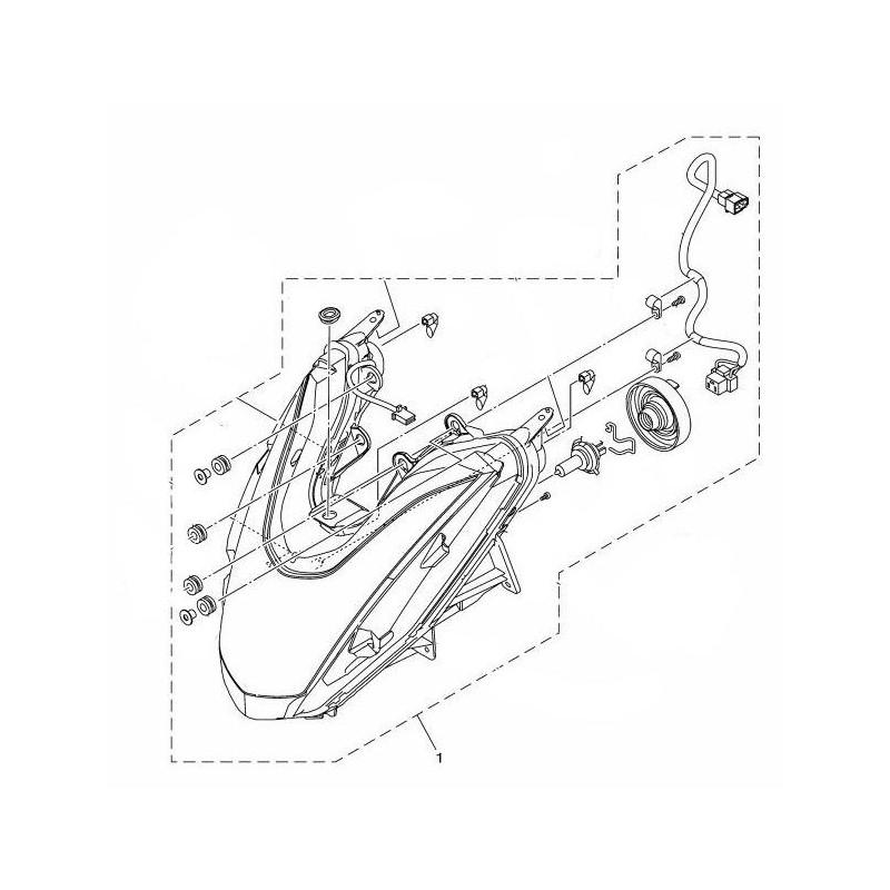 Headlight Yamaha Tricity 125 2014 2015 2CM-H4300-00 oem