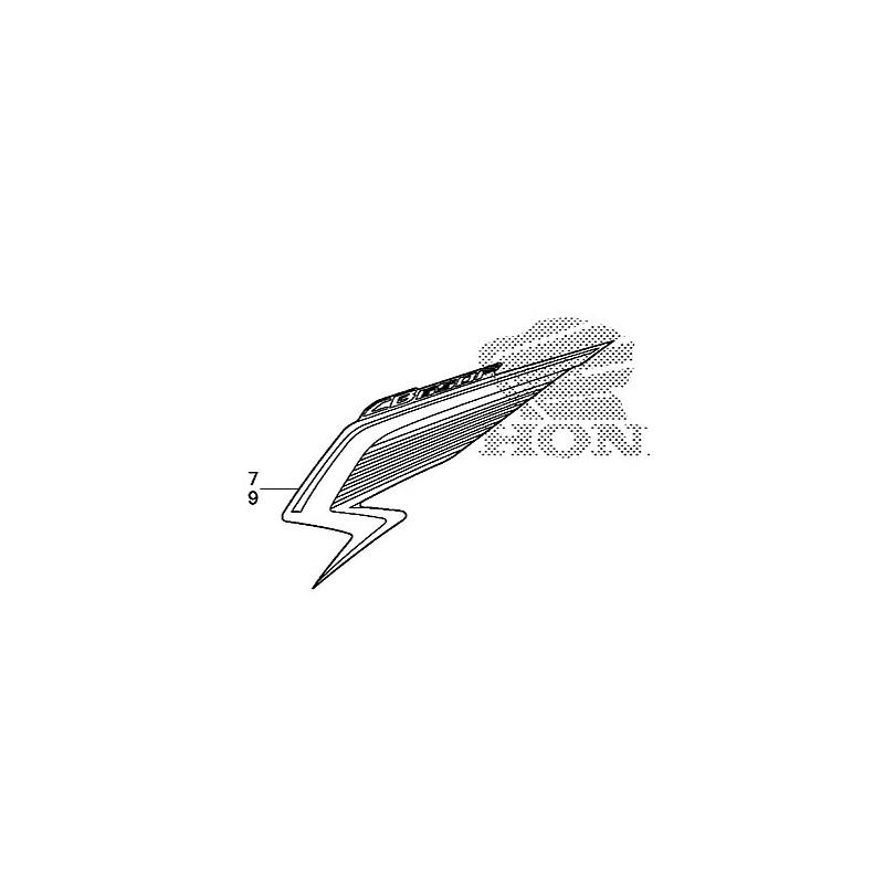 Stripe Shroud Left Honda CB650F TRICOLOR WHITE 2015 86644