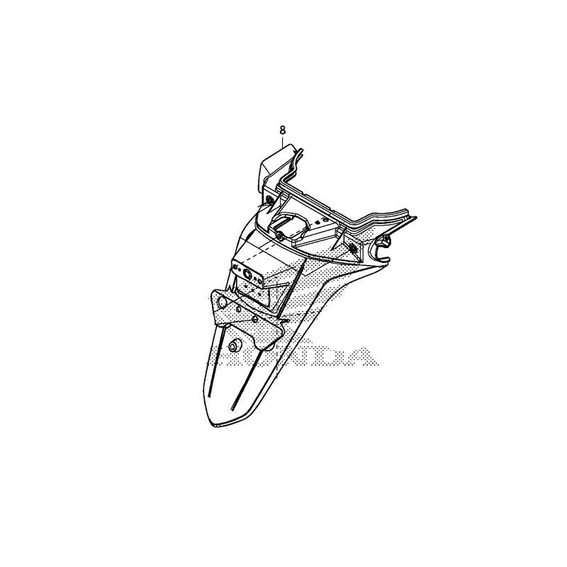Rear Fender License Plate Support Honda Forza 300 80105