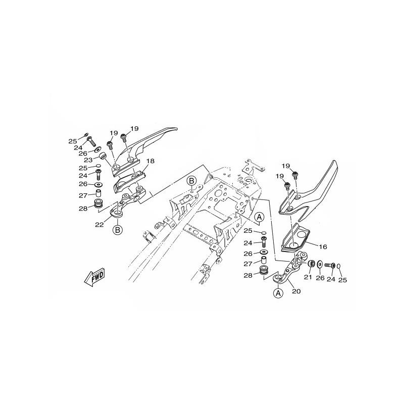 Kit Fixations Poignées Passager Yamaha MT-03 / MT-25 2016 2017