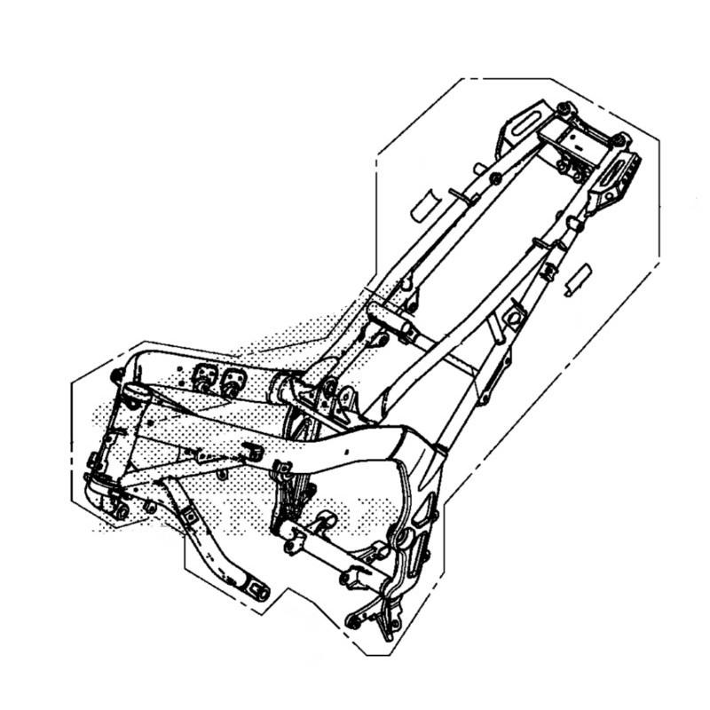 Body Set Frame Honda CB650F 2014 2015 2016 50010-MJE-306ZA
