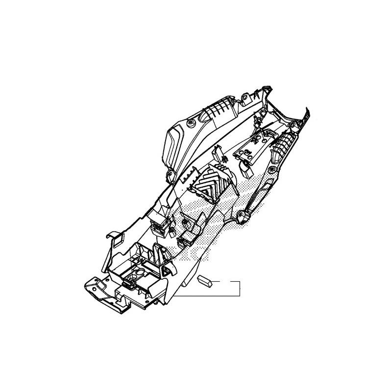 Fender Rear Inner Complete Honda CBR 500R 80105-MJW-J00