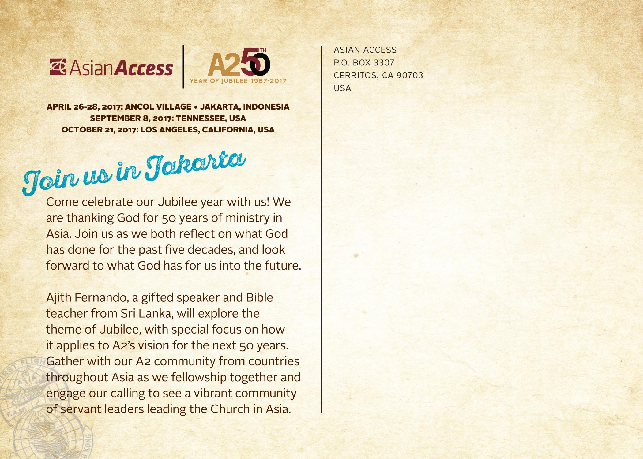 asian access invitation to
