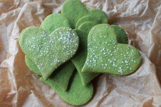 Matcha Green Tea Heart Cookies