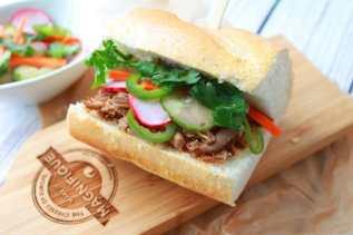 slow cooker, pulled pork, Báhn Mì, Vietnamese sandwich, Chinese Five Spice, Asian sandwich, Asian lunch, Asian recipe