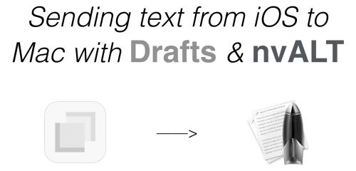 Quick Capture & GTD, Part 4: Drafts & nvALT