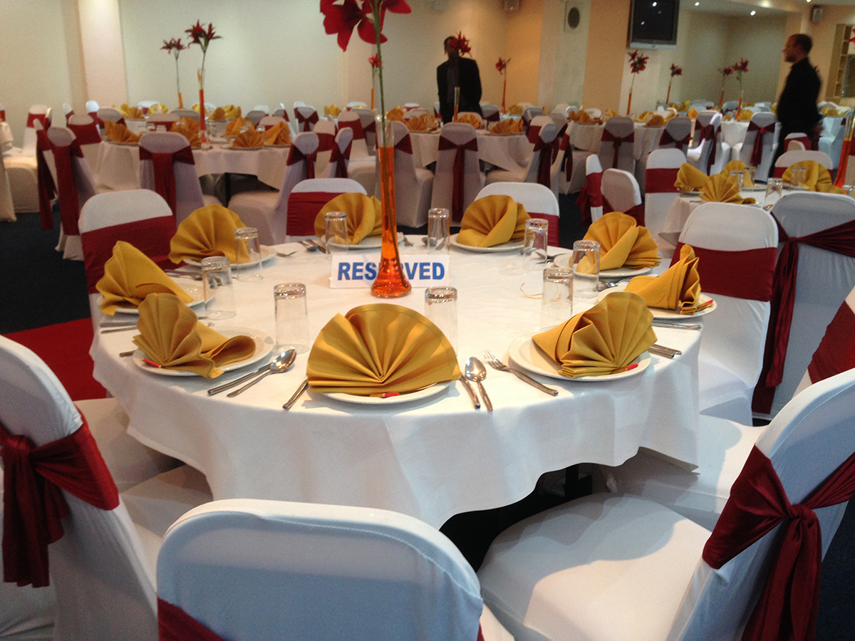 chair cover hire in birmingham steel shot to the head and linen asian wedding event management