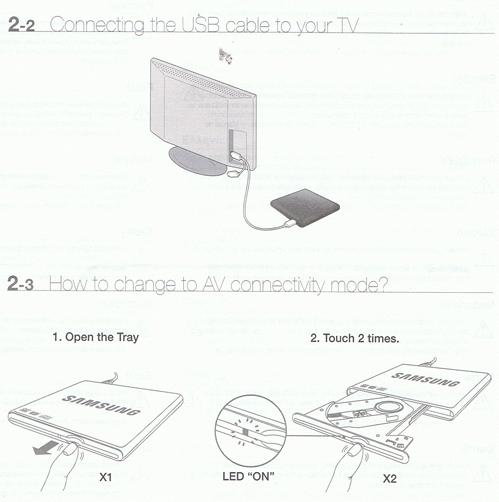 Samsung SE-SO84D Slim USB with AV Player DVD Writer
