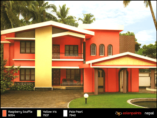 Asian Paints Color Shades Exterior Walls Home Painting