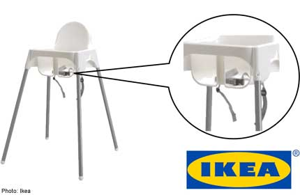 ikea high chair black and white accent chairs with arms recalls antilop children s belt