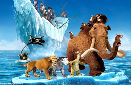 Disney Cartoon Characters Wallpapers In 3d Meet Ice Age 4 Characters At Caltex Service Stations