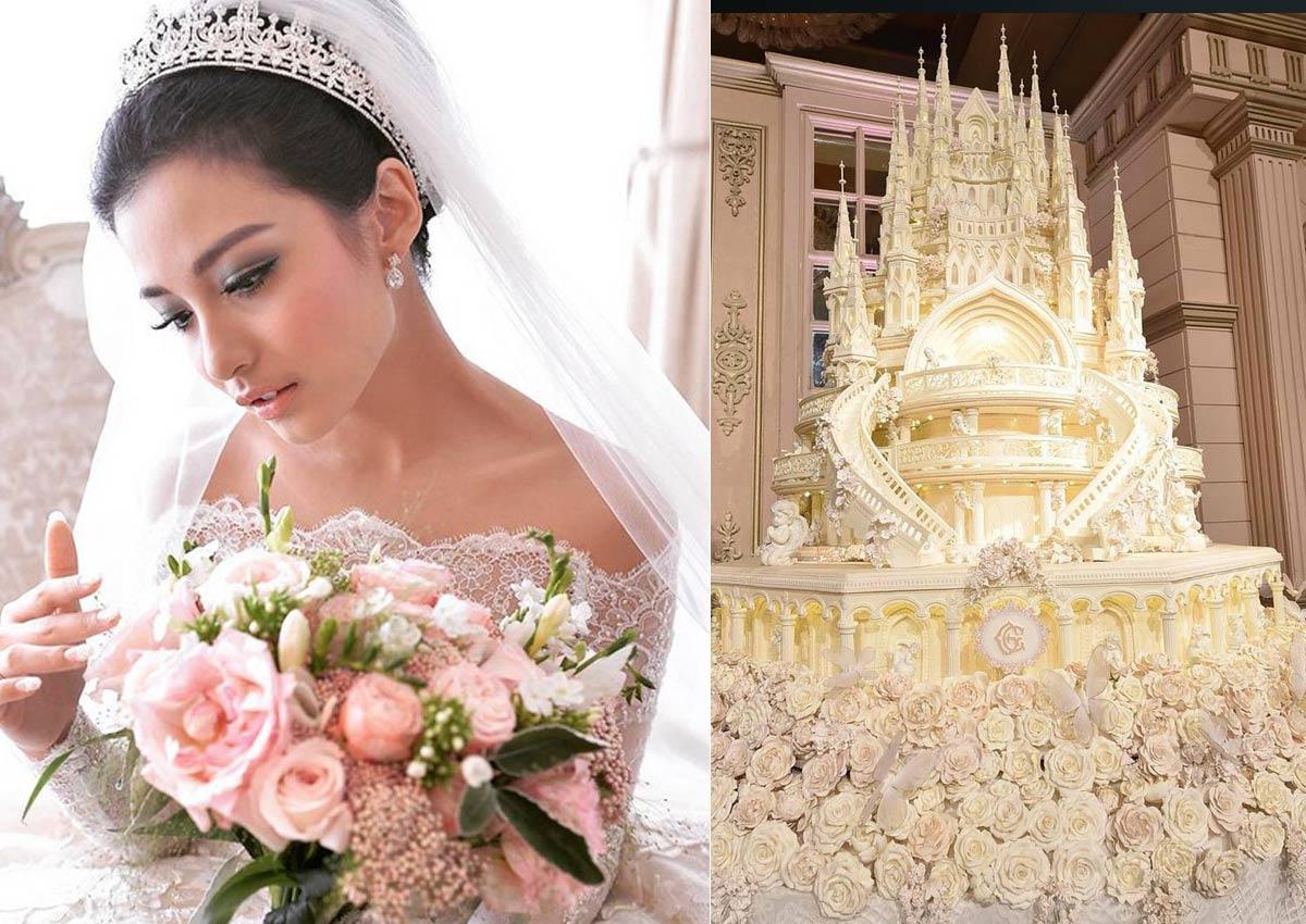 Indonesian celebs fairytale wedding stuns with 45m castle cake Women News  AsiaOne