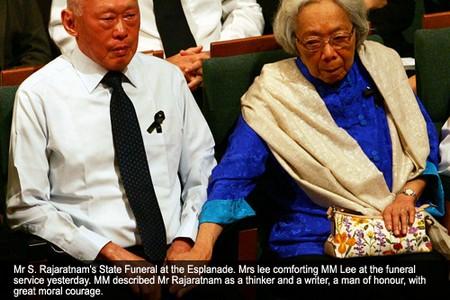 Lee Kuan Yew (l), Kwa Geok Choo (r)