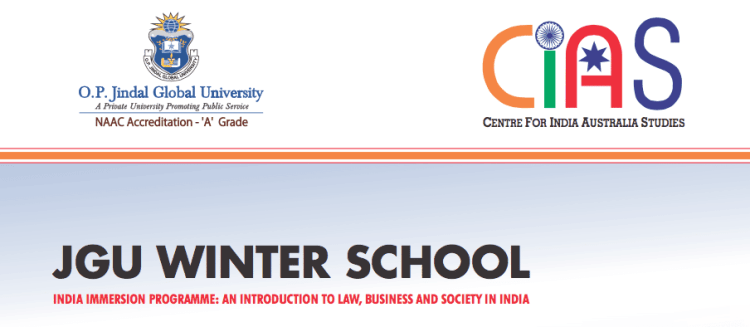 The Jindal Global University and the Centre for India Australia Studies - India Immersion Programme