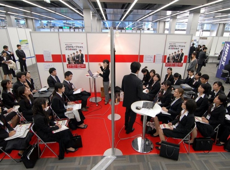 Pre-COVID career fairs in Japan