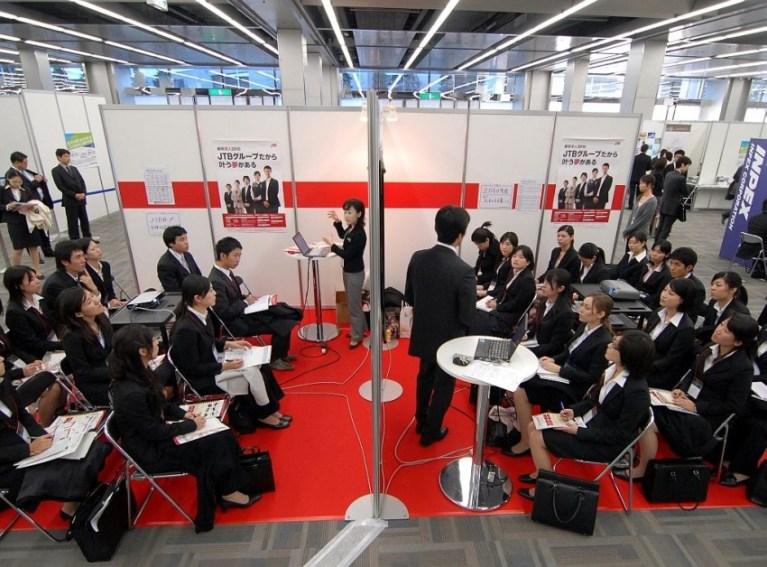 Pre-COVID career fairs in Japan