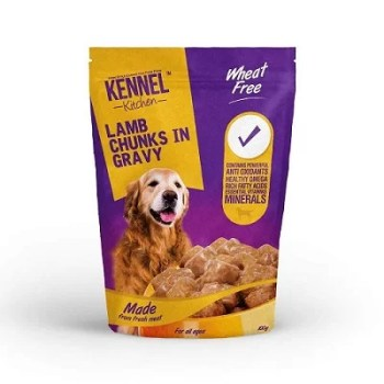 Kennel Kitchen Lamb Chunks in Gravy Dog Food - 100 gm (Pack of 12)