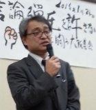 慰安婦報道バッシングの背景について語る植村隆さん (大阪にて/栗原佳子)