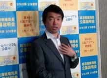 奥下秘書問題に関する質問に憮然として答える橋下大阪市長 2013年 3月11日 撮影リ・シネ