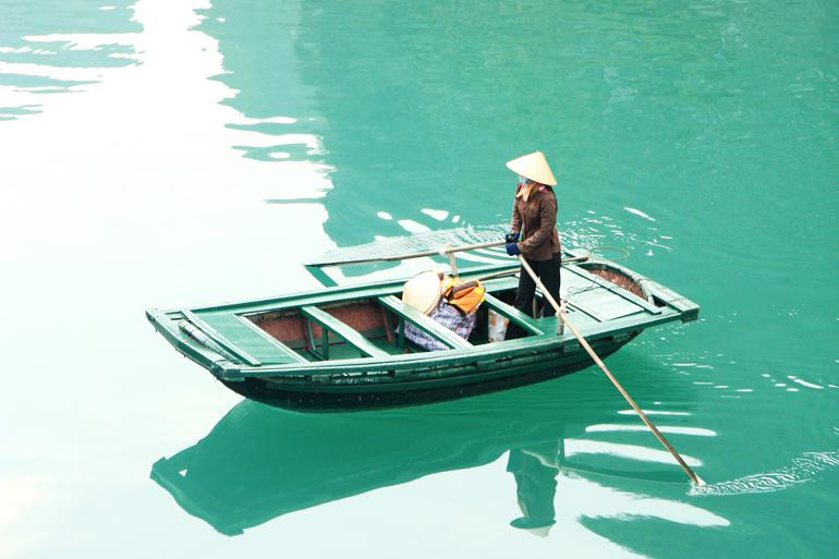 Getting around in the floating villages @Andrea Schaffer