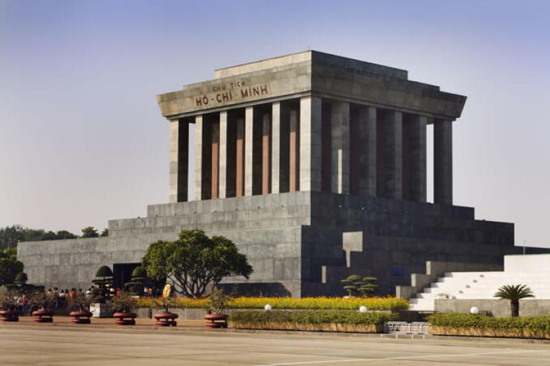 Visiting Ho Chi Minh Mausoleum in Hanoi