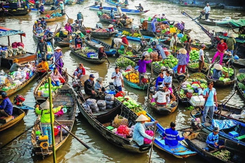 Can Tho tourism - Cai Rang floating market famous Western