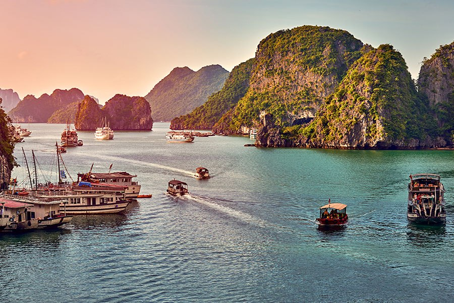 Halong Bay is recognized as a world cultural heritage