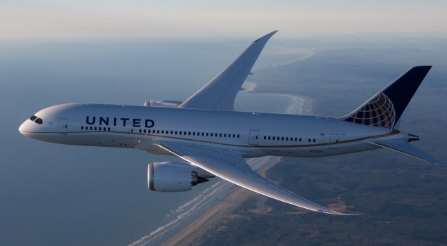 United Airlines Boeing 787-8.