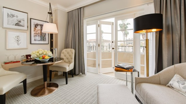 Luxurious room at The Four Seasons Hotel Los Angeles at Beverly Hills