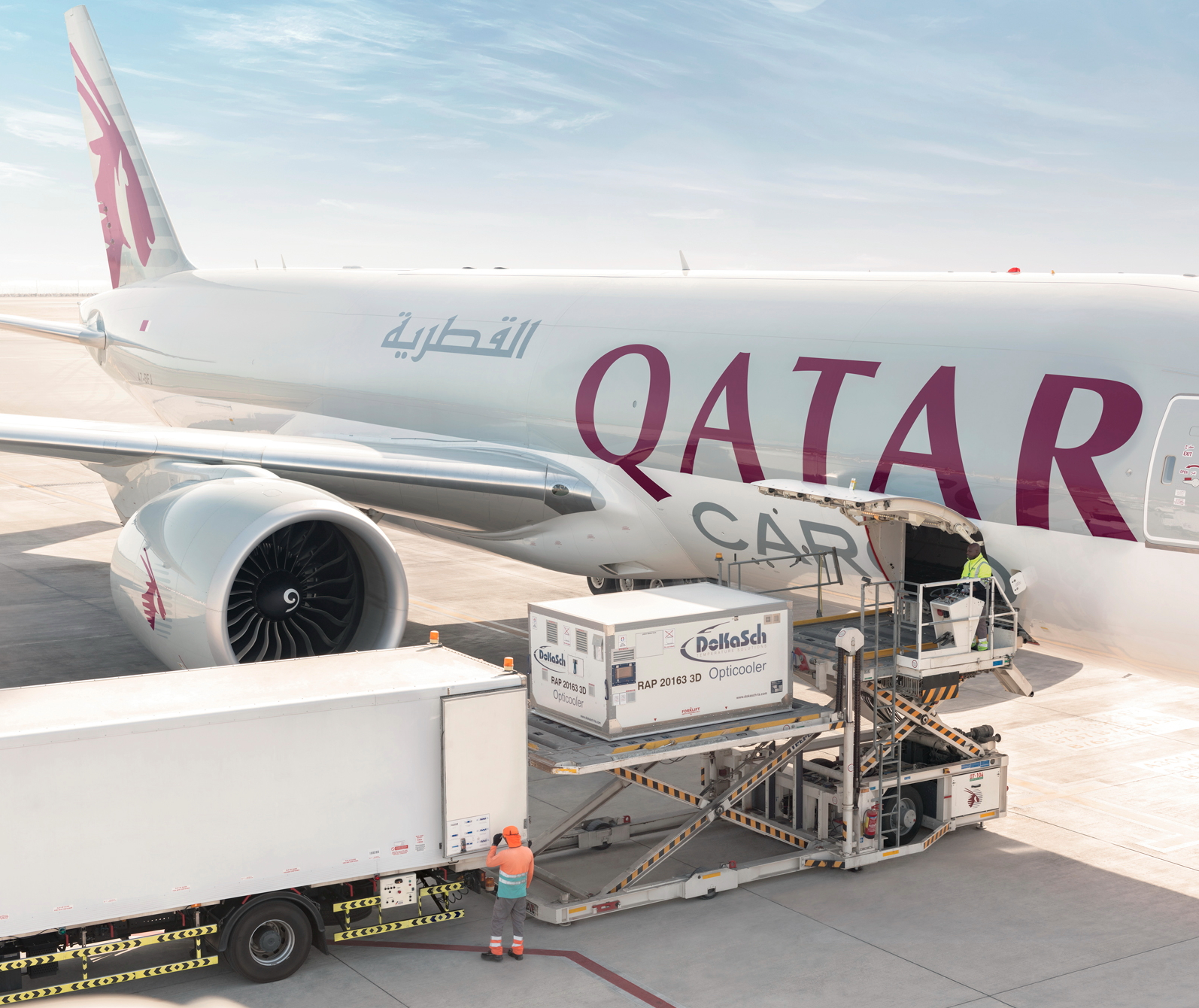Image result for qatar airways cargo Boeing 777F png