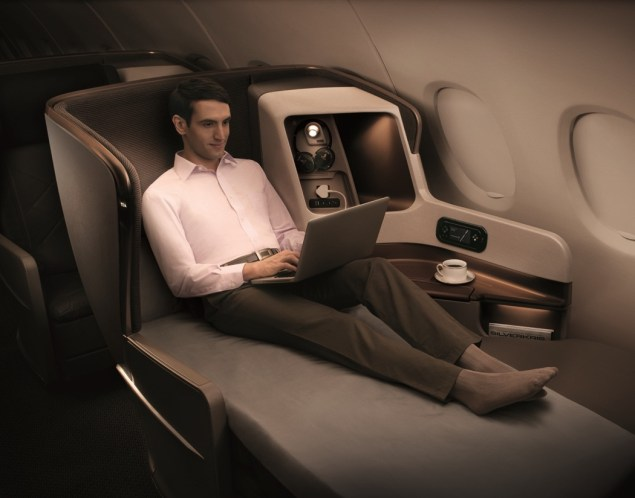 Singapore Airlines new long-haul Business Class seat. Picture: Singapore Airlines