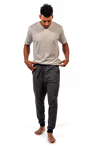 Young man in relaxed fit clothes