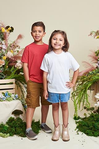 Kids in sustainable activewear