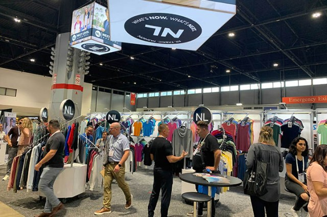 Next Level Apparel booth at ASI Chicago