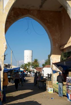 Entrance to the Monday Market at Sidi el Yamani