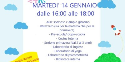 OPEN DAY  A.S. 2020-2021     14  gennaio  2020                 dalle 16.00-18.00