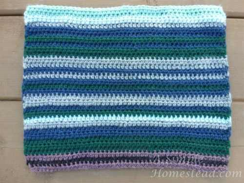 weather afghan - March block