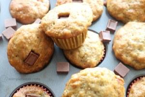 Chocolate, banana bread mini muffins