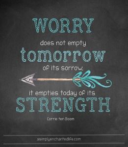 Corrie Ten Boom Worry Quote