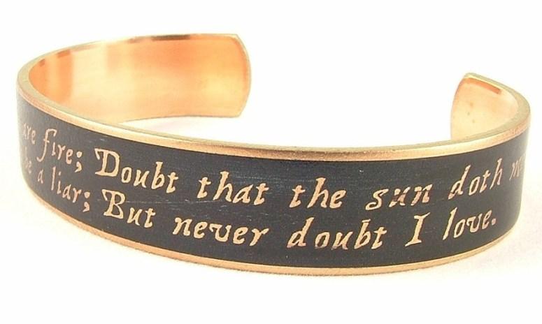 Shakespeare Bracelet