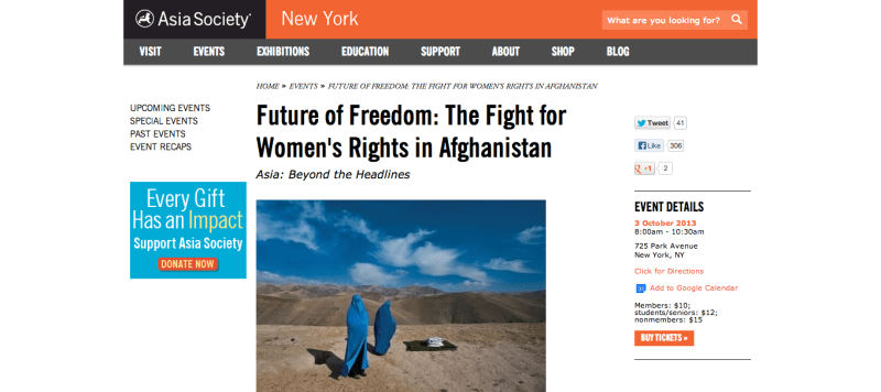 Future of Freedom  The Fight for Women s Rights in Afghanistan   New York   Asia Society