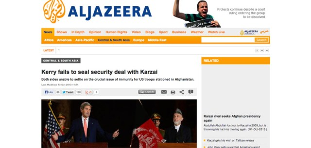 Kerry fails to seal security deal with Karzai   Central   South Asia   Al Jazeera English