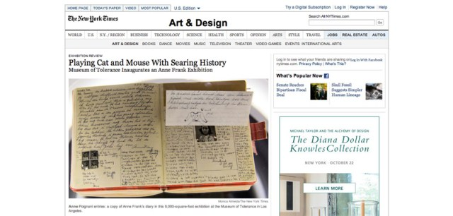 Museum of Tolerance Inaugurates an Anne Frank Exhibition   NYTimes.com copy