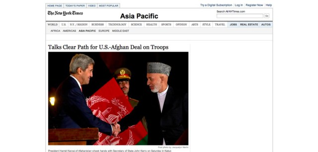 Talks Clear Path for U.S. Afghan Deal on Troops   NYTimes.com
