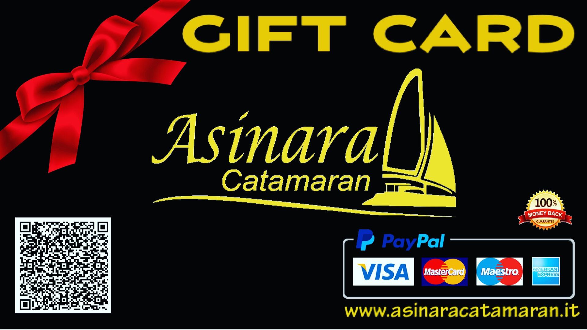 Gift card buono regalo di Asinara Catamaran per escursioni e vacanze in Catamarano