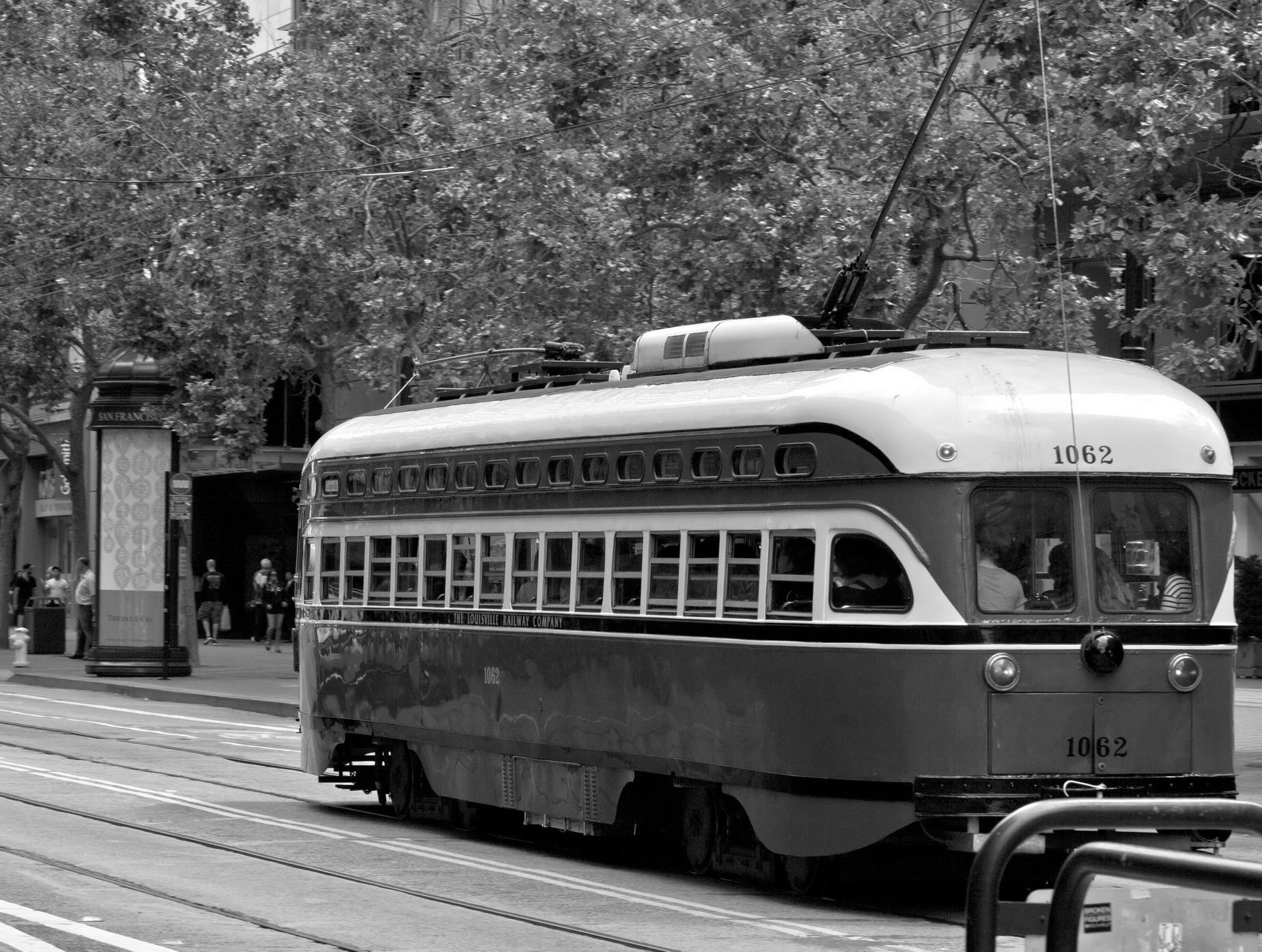 Asisbiz Photos Of Louisville Kentucky Railroad Pcc No 1062 San Francisco Cable Car System Los